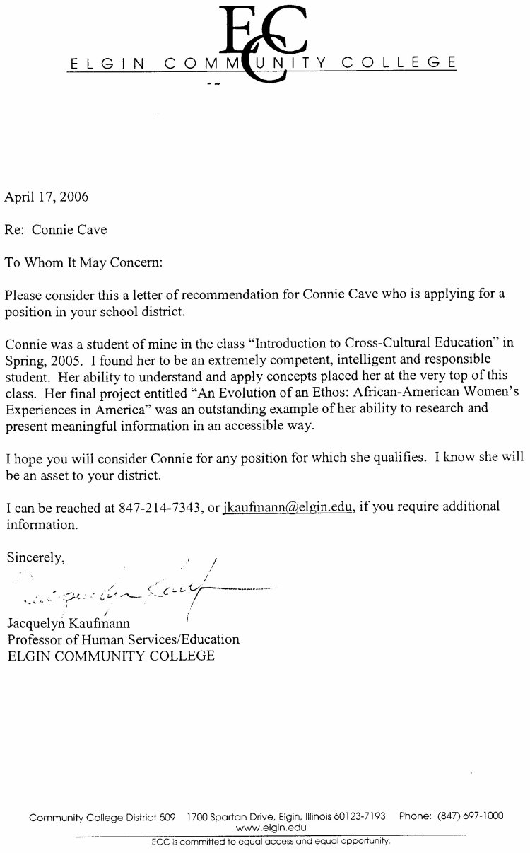 College Letter Of Recommendation Image Collections  Letter Format